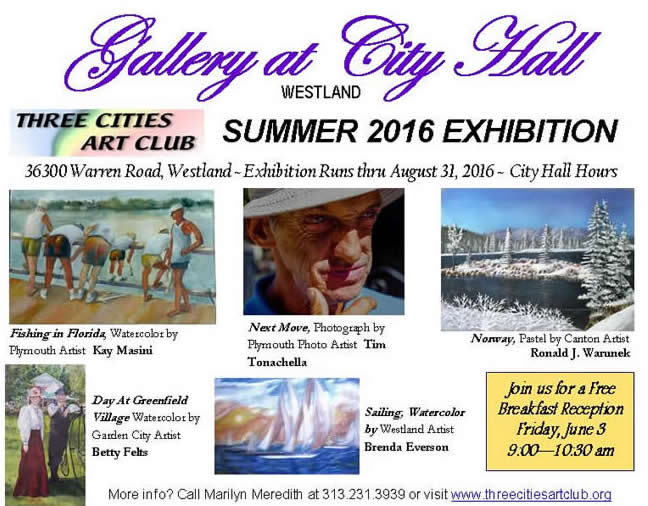 Exhibition at Gallery at City Hall - Westland Michigan