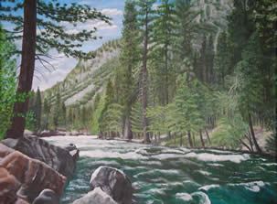 Merced River - Acrylic painting by Marilyn Meredith